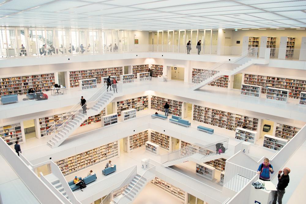 La Nouvelle Bibliothèque De La Ville De Stuttgart