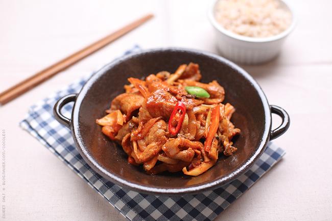 porc sauté coréen