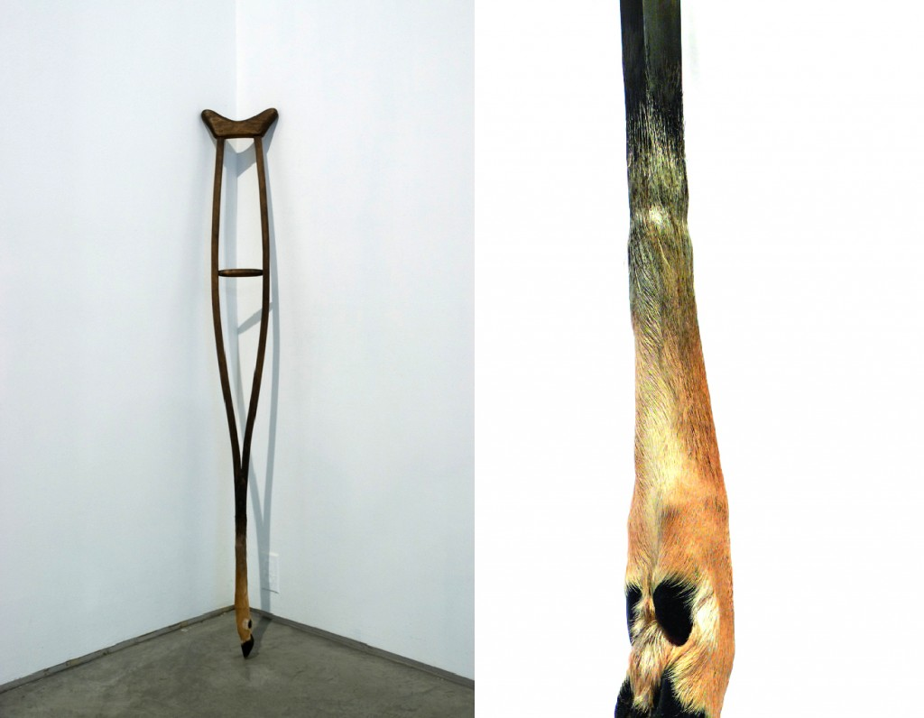 Crutch-Wood-Deer foot