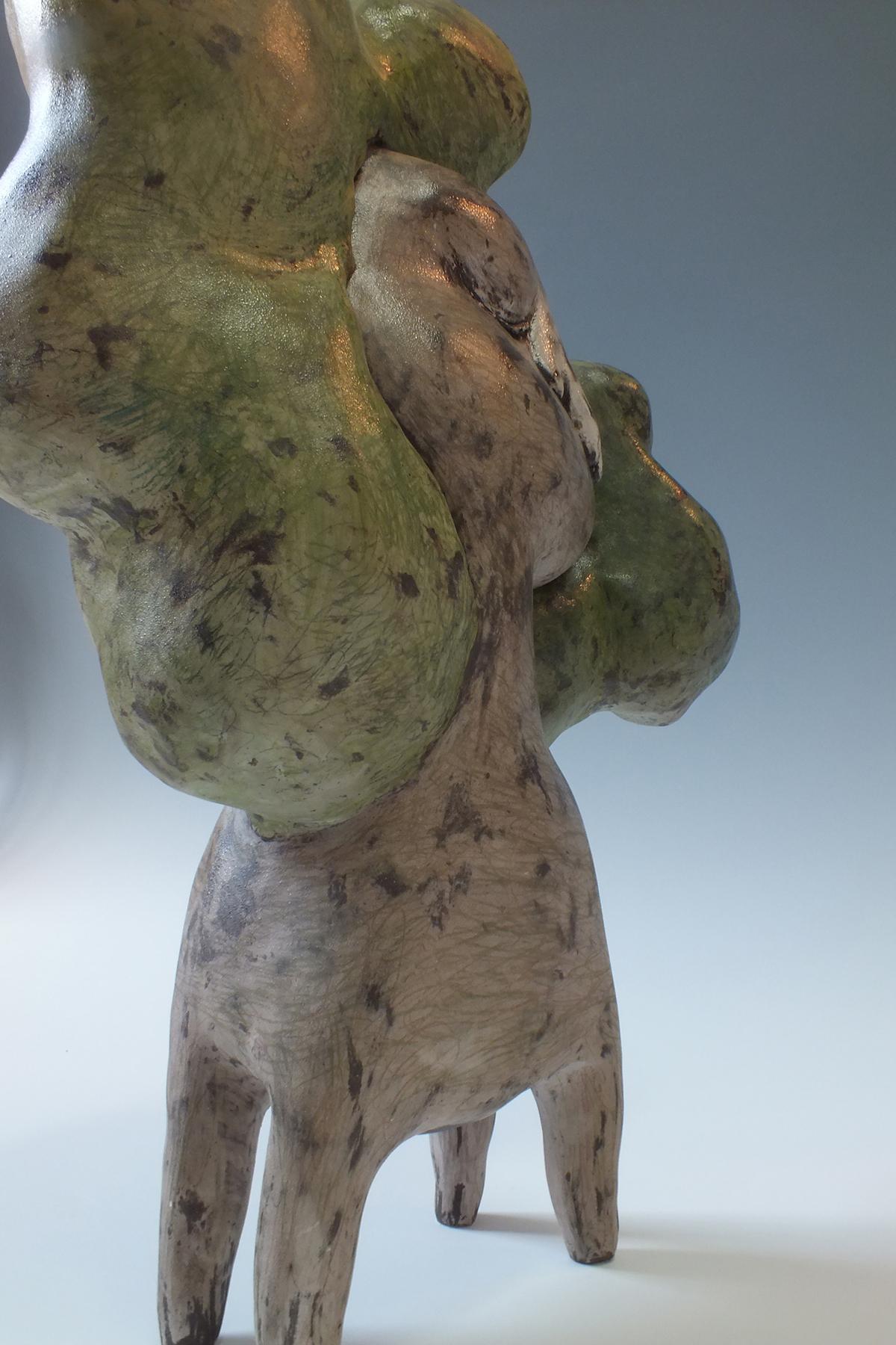 이방인 나무, Arbre étranger - Lenteur/ Faïence/ Hauteur de 47cm/ 2010/ collection privée
