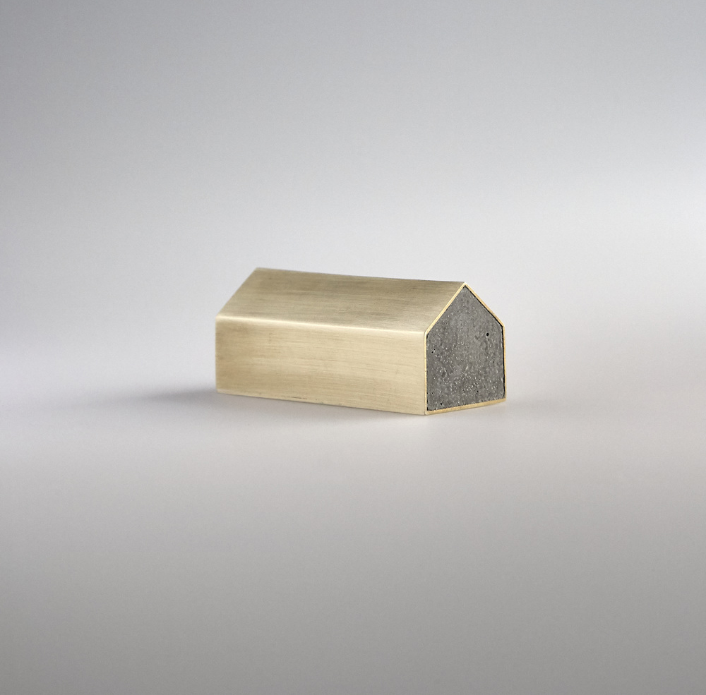 Concrete House Paperweight
