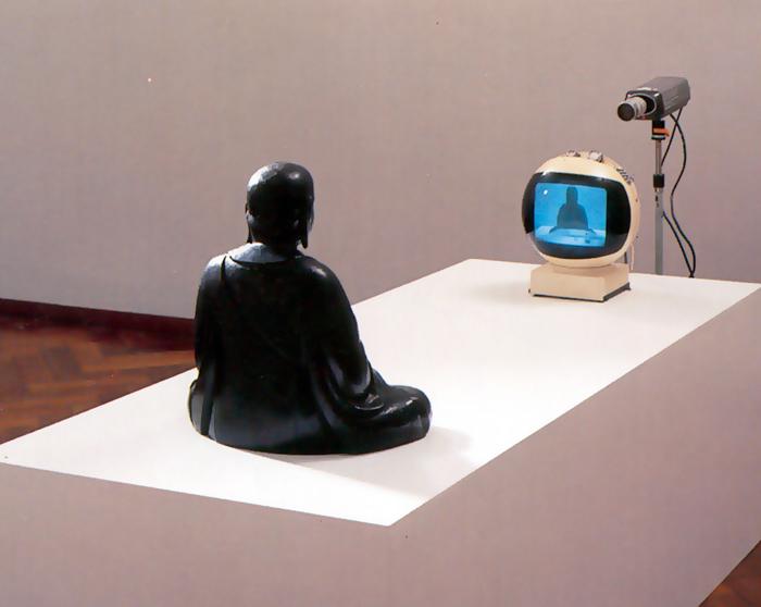 nam june paik - buddha