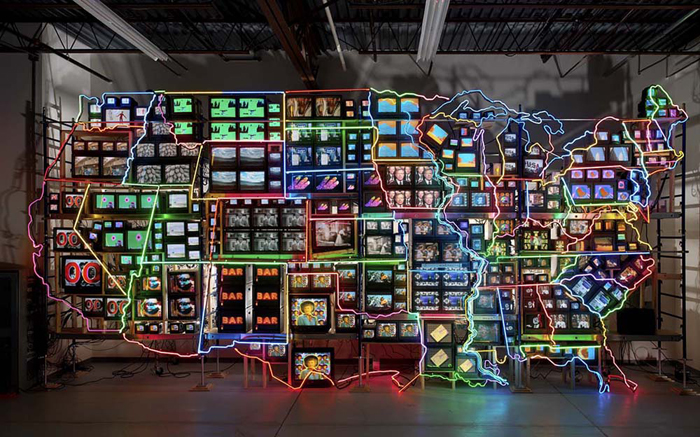 nam june paik screen