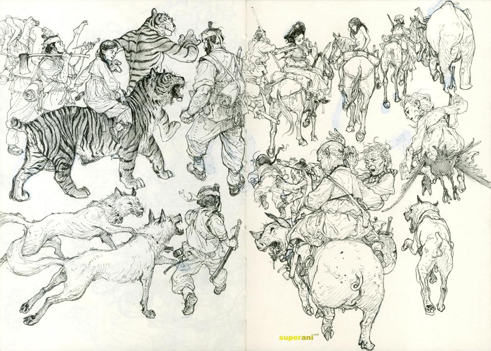 dessin tigre - kim-jung-gi