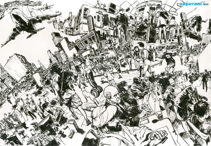 dessin ville - kim jung-gi