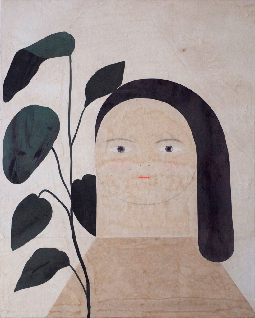 Painting07_girl_with_a_plant_60.6x50cm_mixedmedia_miju-lee-cahier-de-seoul