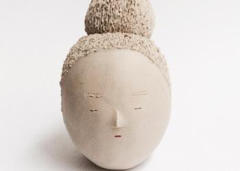 artiste coréenne - ceramique visage