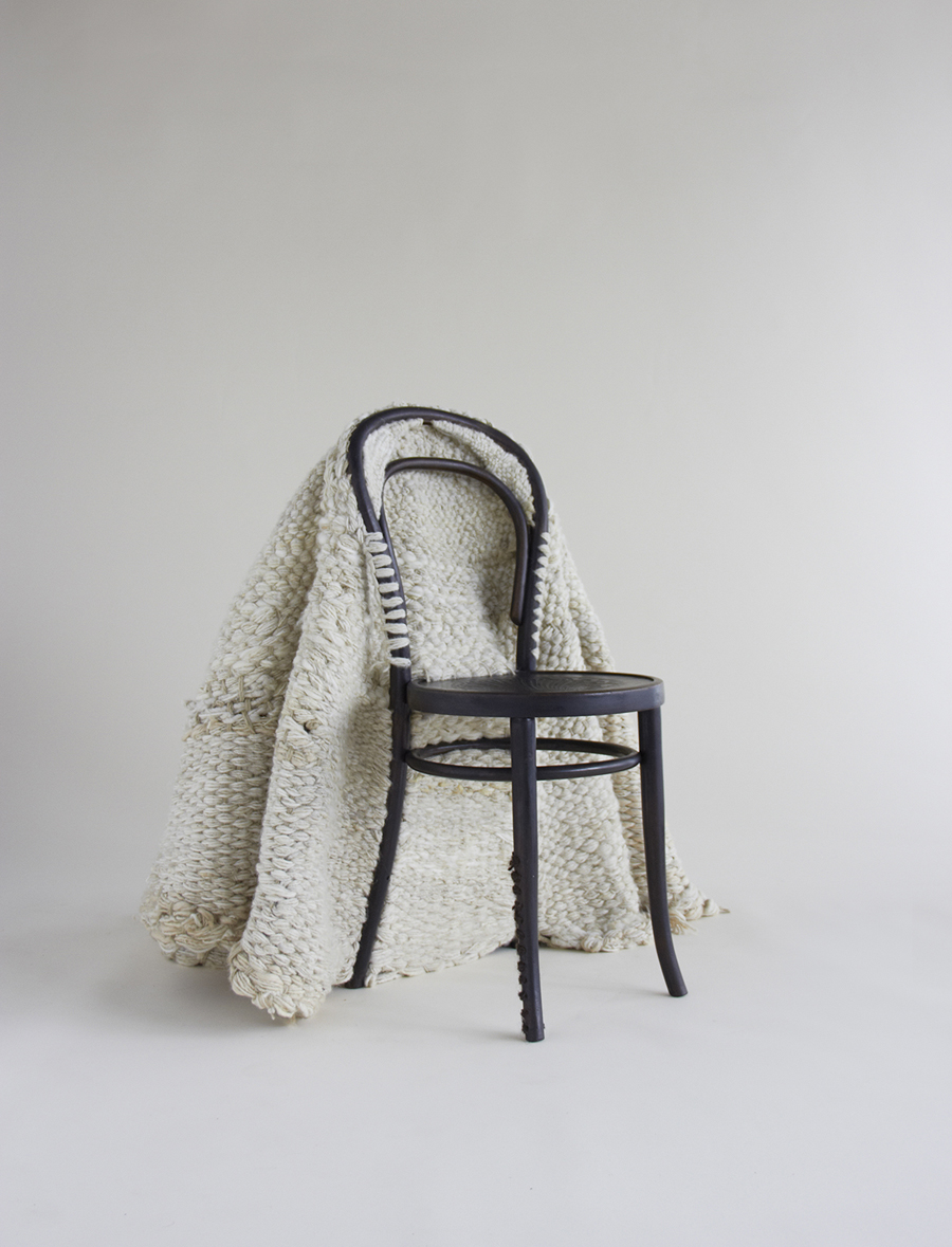 Seating, 2013 Sheep-wool, hemp and Thonet chair