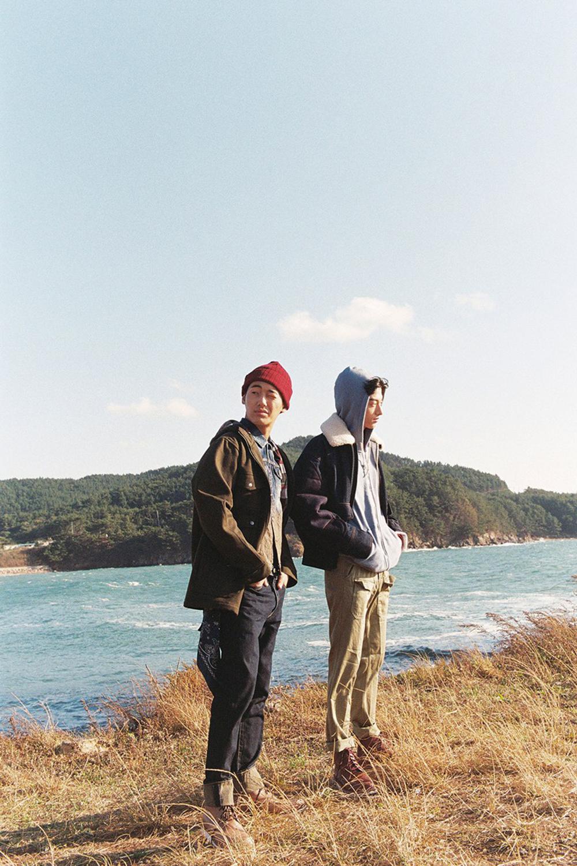 hommes coréens fleuve