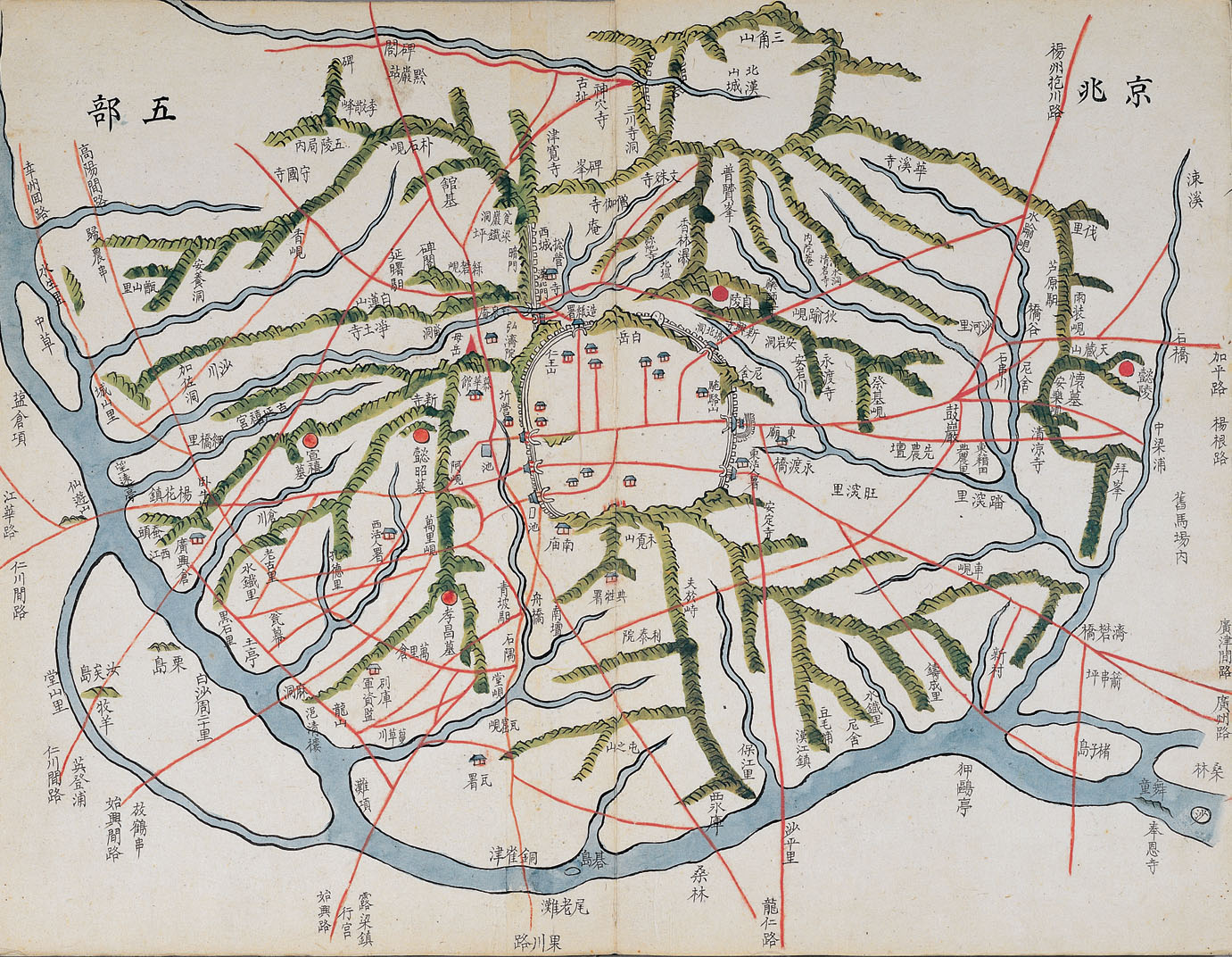 Carte ancienne de Seoul